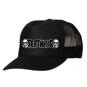 Image is loading TEETHING-Logo-TRUCKER-CAP-Napalm-Death-MAGRUDERGRIND- Weekend- bc46cd83bc73