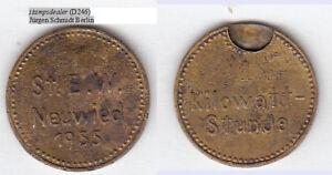 Neuwied-1955-1-Kilowatt-Stunde-gebraucht-fleckig-D246-stampsdealer