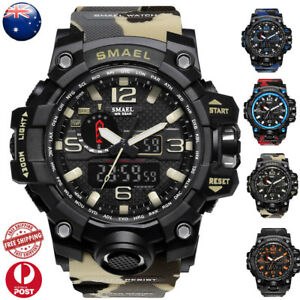3D-Large-Dial-Waterproof-Mens-Digital-Analog-Wrist-Watch-Military-Army-Sport-NEW