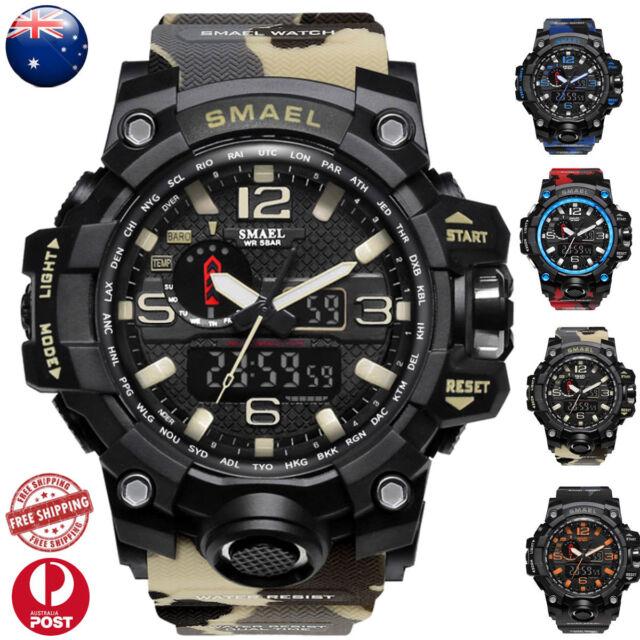 3D Large Dial Waterproof Mens Digital Analog Wrist Watch Military/Army/Sport NEW