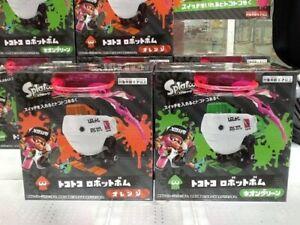 Splatoon-2-robot-bomba-Naranja-Y-Verde-Neon-Conjunto-de-2