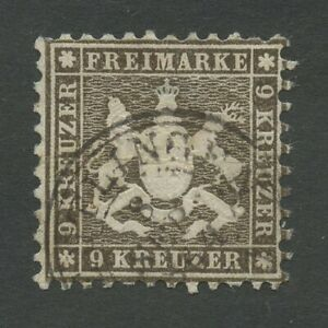 Ancienne-Allemagne-Wurttemberg-1863-Mi-28-C-ou-D-Timbres