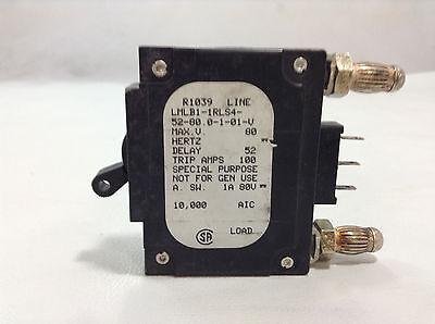 Used Airpax LMLB1-1RLS4-52-80.0-1-01-V Breaker Bullet Style 80 Amp