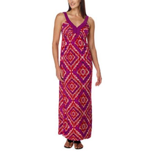 Design History Ladies Maxi Dress Grape Poppy Print Size Xl R6b4 Ebay
