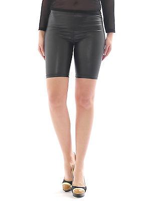 Bello Pantaloncini Mini 1/2 Pantaloni Corti Sexy Lucentezza-matt In Ecopelle Effetto Vernice-mostra Il Titolo Originale Aiutare A Digerire Cibi Grassi