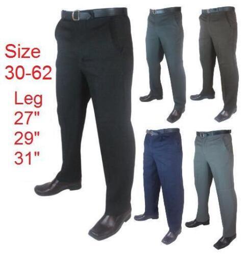 "Men/'s Big Size Casual//Formal Trousers//Pants Size 30/""-66/"" Leg Length 27/"" 29/"" 31/"""