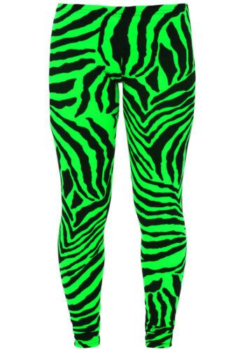 ZOONAG New Ladies Women Neon Zebra Print Ankle Length Trouser Leggings