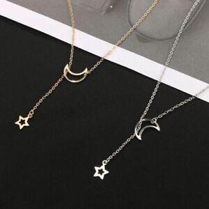 Fashion-Dainty-Moon-Star-Long-Chain-Pendant-Necklace-Jewelry-Women-Girls-Gift-C