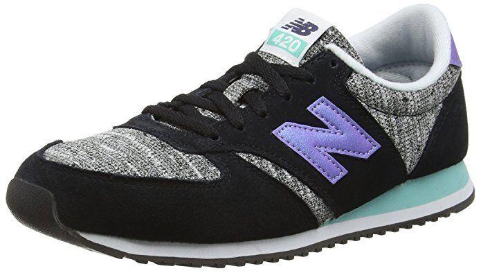 New Balance Wo Hommes 420 Low Top Violet Trainers Chaussures Baskets Noir Violet Top wl420kic UK4 147d65