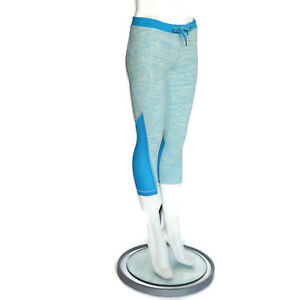3577958218938d Image is loading LULULEMON-Great-Color-Electric-Blue-Capri-Leggings -Drawstring-