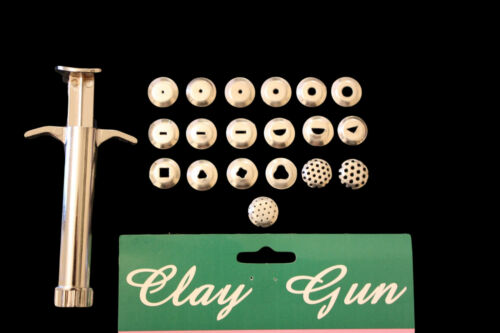 Clay gun sculpting outil sugarcraft cuisson 19 interchangeables disques