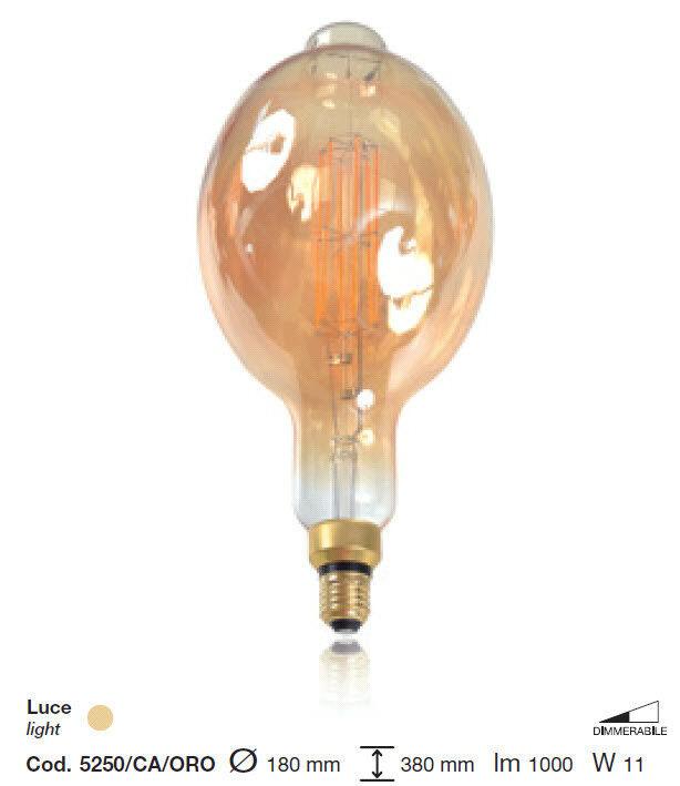 Lampe Vintage A Glühfaden LED Typ BT180 E27 11W Dimmbar 5250   Ca   Gold
