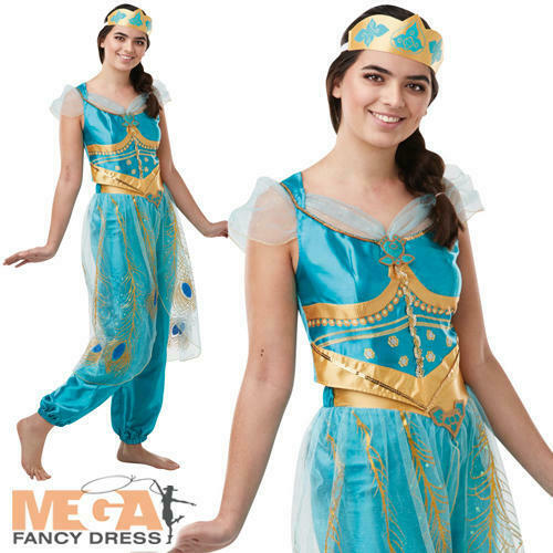 Jasmine Ladies Fancy Dress Live Action Aladdin Disney Princess Adults Costume