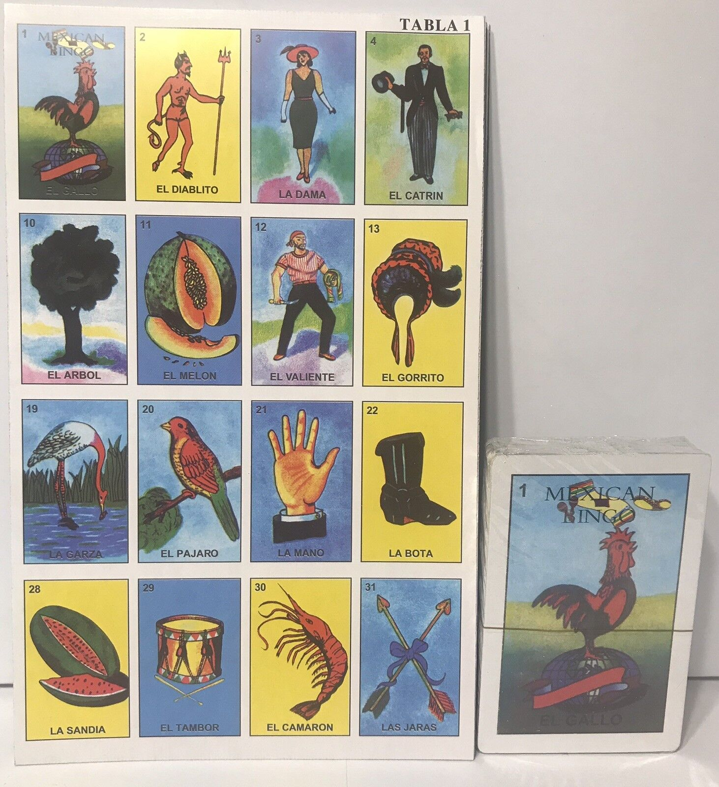 Loteria Mexicana Mexican Bingo 10 Playing Boards 54 Playing Cards For Sale Online Ebay