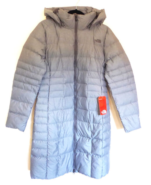 4c368ce15 The North Face Women's Metropolis II Parka 550 Down Trench Coat Jacket Grey  10 M