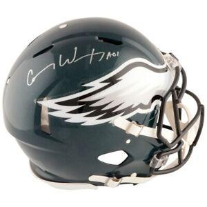 CARSON-WENTZ-Autographed-Eagles-Speed-Authentic-Helmet-FANATICS