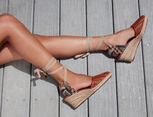 Schutz-Dieniffer-Caramel-Woven-Leather-Espadrille-Mid-Wedge-Tie-Up-Sandal