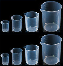 Plastic Graduated Beaker With Spout Set Of 8 100 250 500 And 1000 Ml2 Each