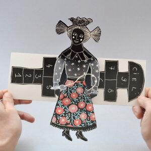 Corde-a-sauter-Carte-Pop-Up-Pop-Up-Card-Carte-3-D-Livre-d-039-artiste
