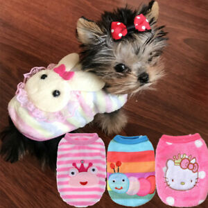 Details about Teacup Chihuahua Dog Coat Clothes Puppy Outfit Size XXXS XXS  XS for Yorkie Kitty