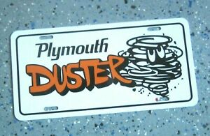 Plymouth DUSTER license plate car tag 1970 1971 1972 1973 1974 1975 1976 Orange