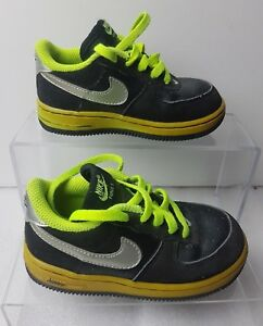 Leather Nike 5 Sneaker Giallo Nubuck 7 Neon Eu Air Uk Force 25 1 Baby Taglia Nero axw8apqf