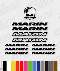 Marin Die-Cut Decal Sticker feuille (cyclisme, vtt, bmx, Vélo, Cadre) - V2  </span>