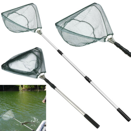 MadBite Safe Catch and Release Fish Landing Net Telescoping Handle Foldable Hoop
