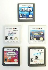 Lot of 5 Nintendo DS 3DS 2DS Games Bundle Disney Wizards Jeopardy and More