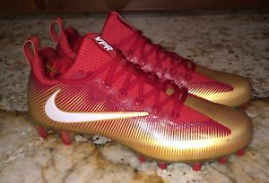 825370562b2 NIKE Vapor Untouchable Pro PF Low TD Gym Red Gold Football Cleats ...