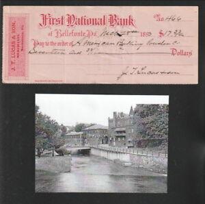 Vintage-U-S-Check-1893-First-National-Bank-Bellefonte-Pa