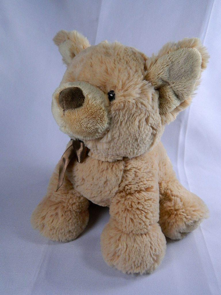 Gund Edgehill Collection Tan Braun Puppy Dog Braun Ribbon Plush Stuffed Toy