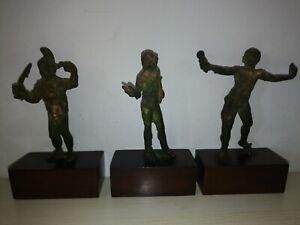Antiche-Statuine-In-Metallo-Di-Soldati-E-Atleti