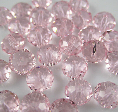 NEW Jewelry Faceted 100 pcs Pink #5040 3x4mm Roundelle Crystal Beads DIY  AB32