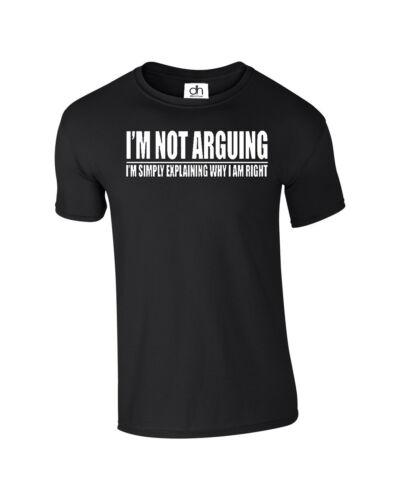 IM NOT ARGUING IM RIGHT TUMBLR FASHION TSHIRT FUNNY PRESENT GIFT ARGUE,T SHIRT