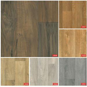 Wood Effect Anti Slip Lino Home Kitchen Office Bedroom Vinyl