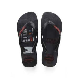 Havaianas Star Wars Flat Flip Flop Beach Shoe Mens Boys Teen Size New Black