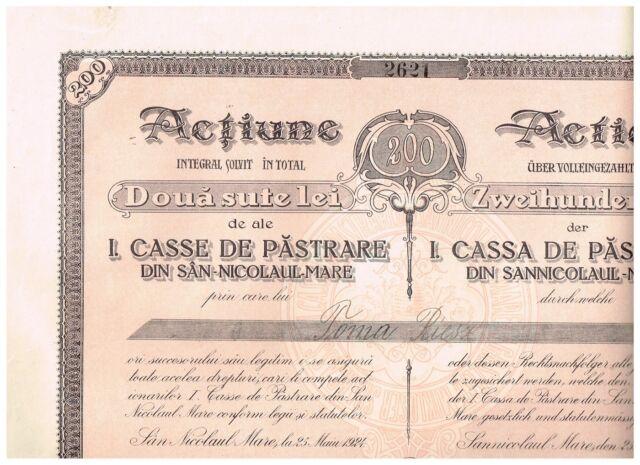 Cassa de Pastrare din Sannicolaul-Mare, 1924,  unc./cps.
