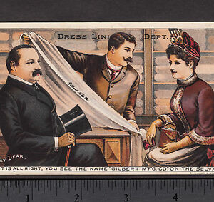 Details About Pres Grover Cleveland Francis Folsom 1880 S Gilbert Mfg Dress Making Trade Card