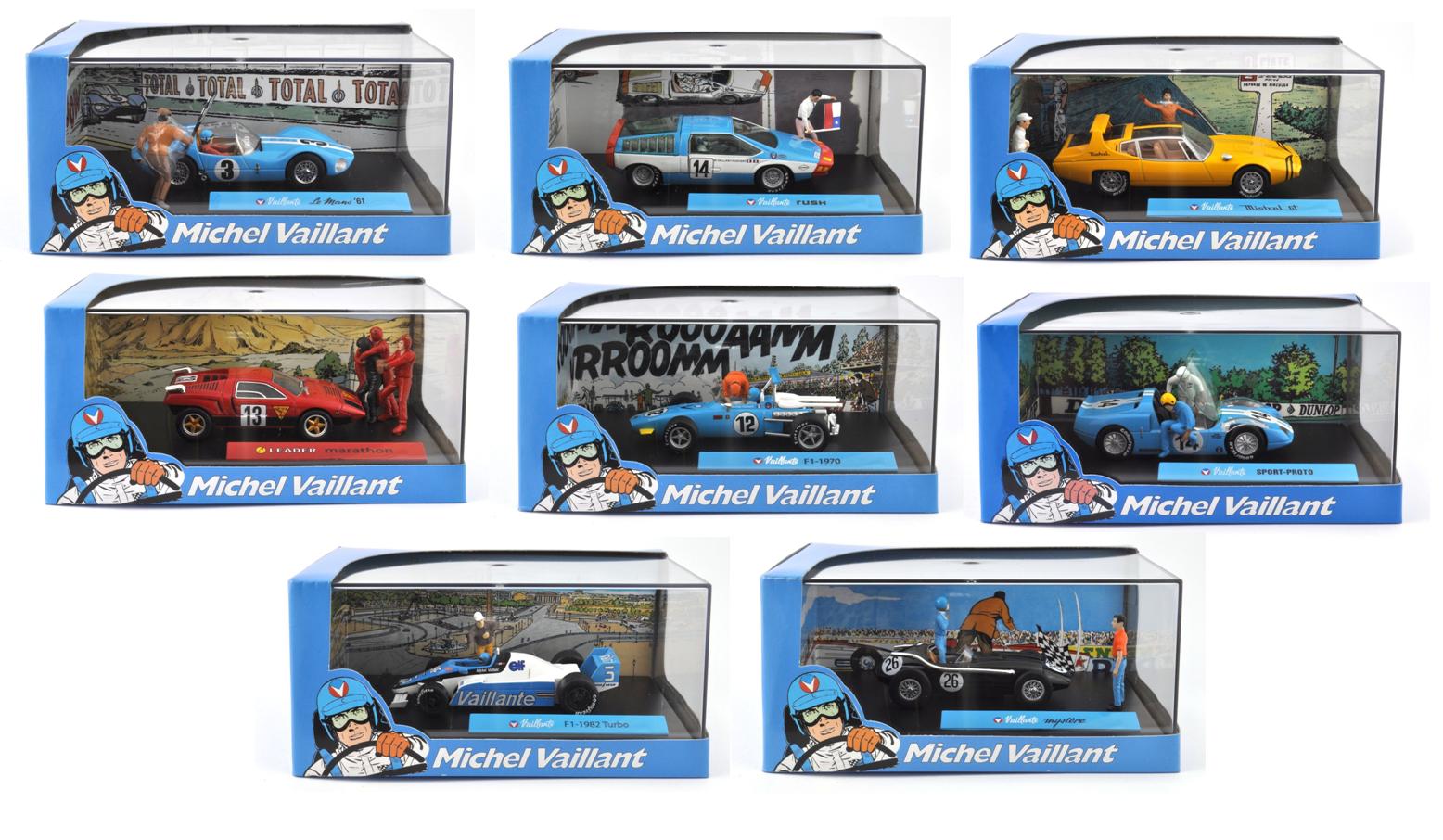 Lot de 8 voitures collection Michel Vaillant  - BD DIECAST MODEL CAR V1