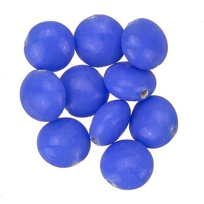 Transparent Frosted Round Glass Beads Violet 8mm PK10 D25//3