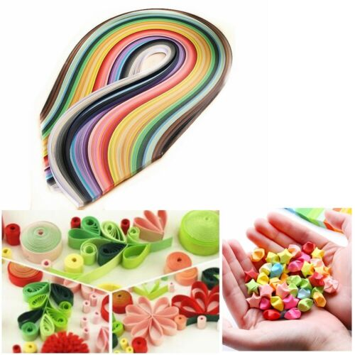 Fit For Handmade DIY Craft 50 Colors 500 Stripes Quilling Paper 5mm Width