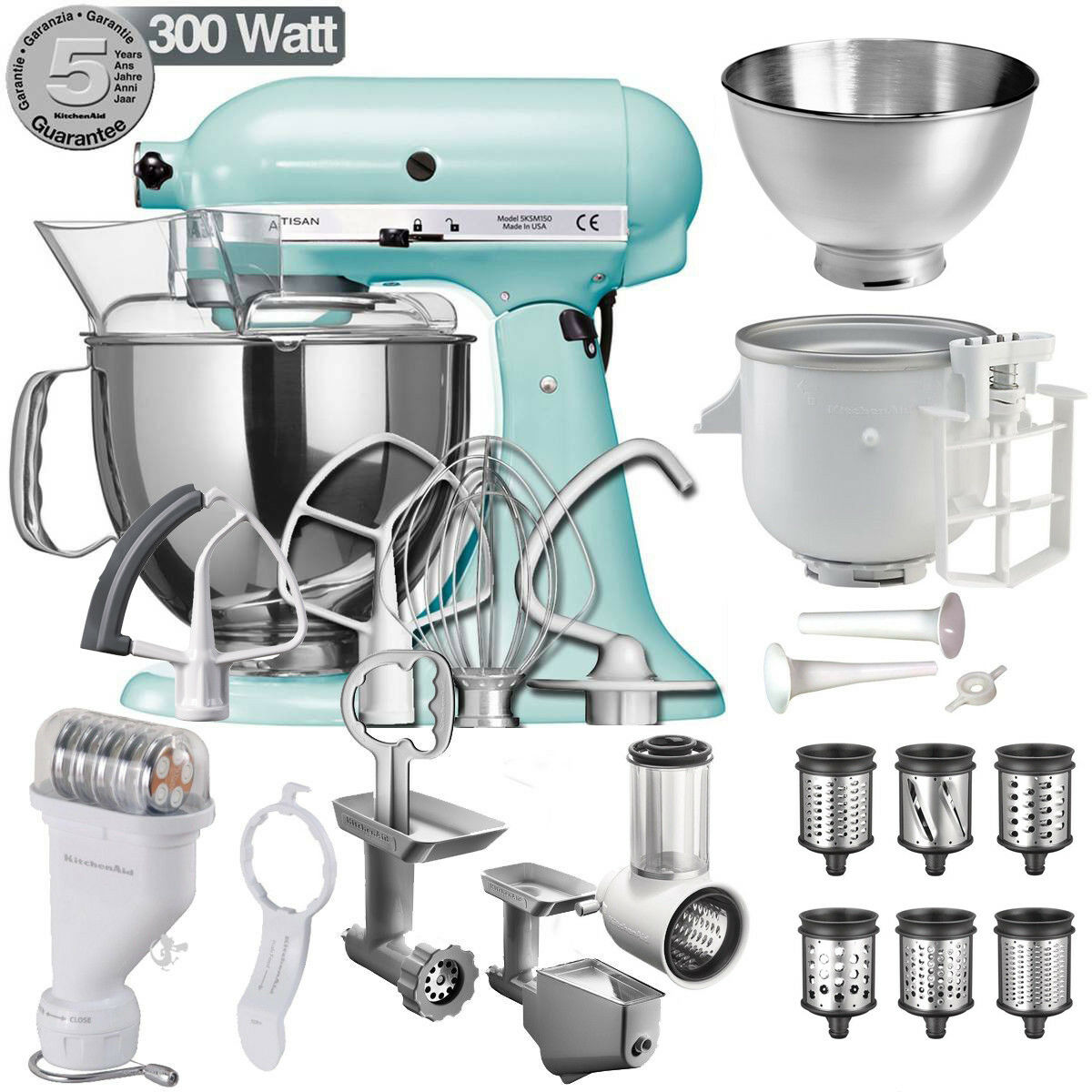 5KSM175PS Robot da Cucina KitchenAid Artisan 4,8L Food Processor + ...