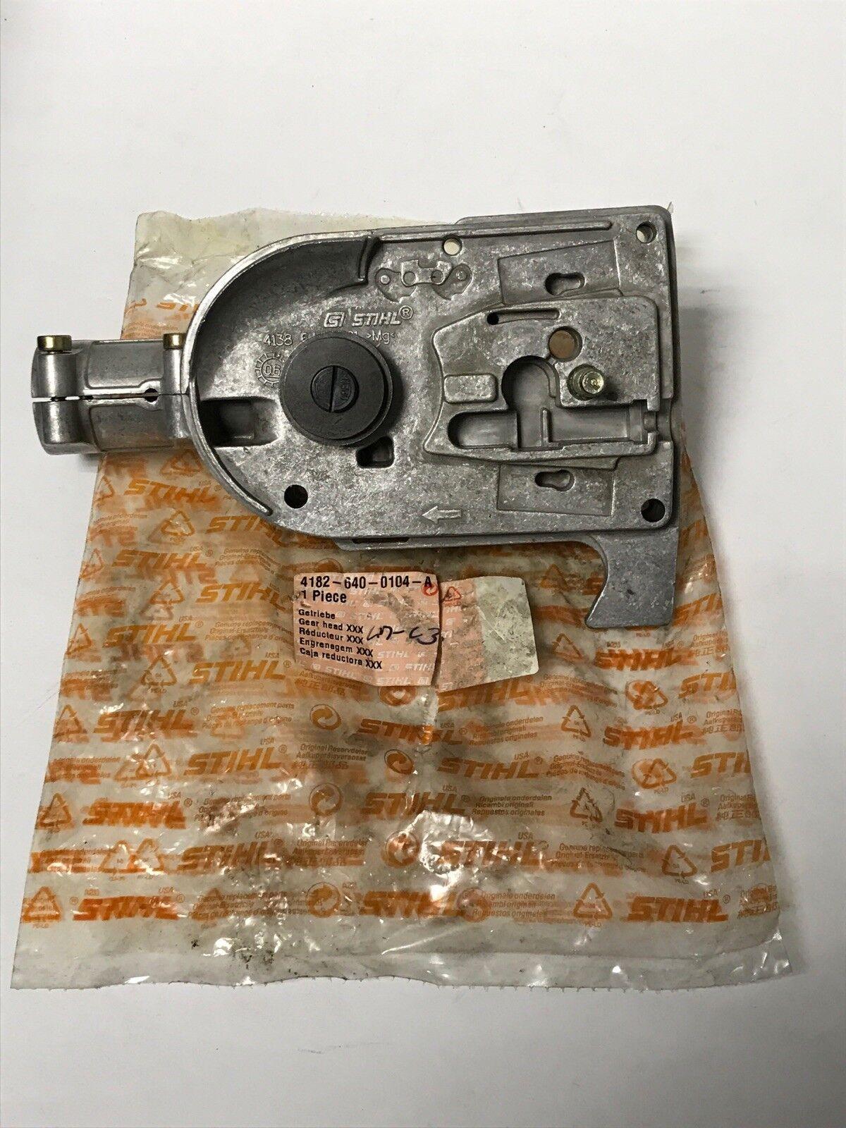 Nuevo Original Equipment Manufacturer STIHL KM HT HT130 FS90 110 130 polos Motosierra Gear Head 4182-640-0104