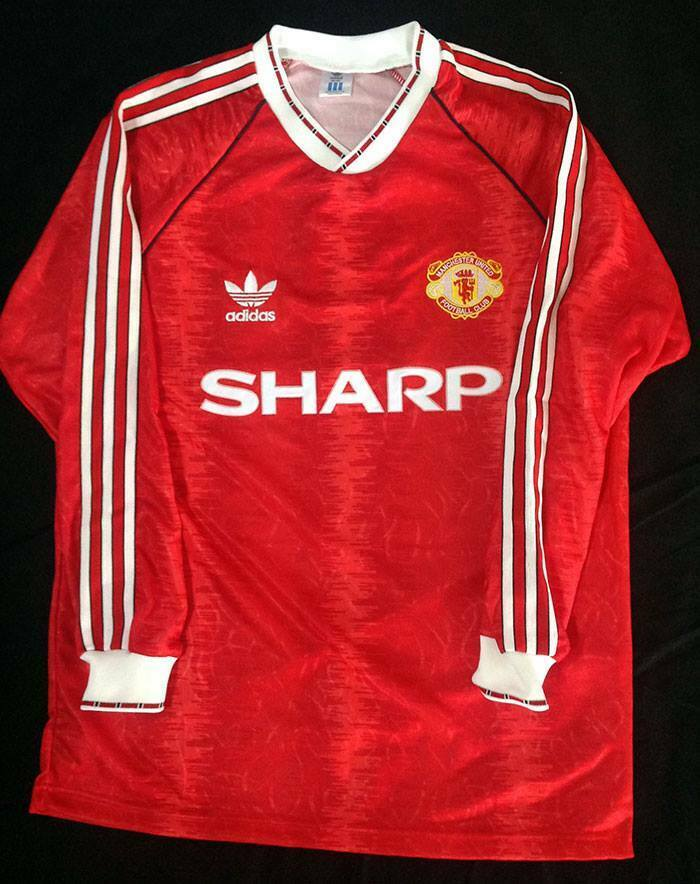 453d4adb8 MANCHESTER UNITED 1990-91-92 RETRO SHIRT LONG SL