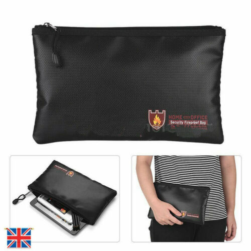 Fireproof Document Pouch Bag Waterproof File Envolope Safe Storage Cash 3 Sizes