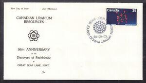 CANADA-FIRST-DAY-COVER-865-35c-1980-URANIUM-RESOURCES