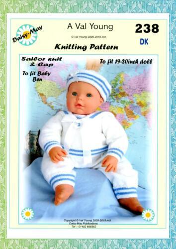 """. Muñecas Tejer patrón ** Nº 238 ** para 19/""""//20/"""" muñeca de tamaño por Daisy-May."""