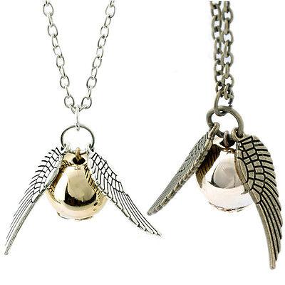 Hot Movie Occident Retro Fashion Snitch Gold Charm Jewelry Necklace
