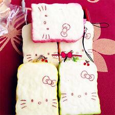 Hello Kitty Toast Bread Squishy Phone Strap